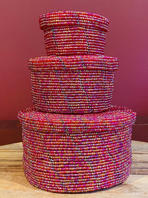 Beaded Stacking Jewelry Boxes
