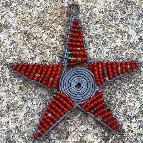 Beaded Star Ornament