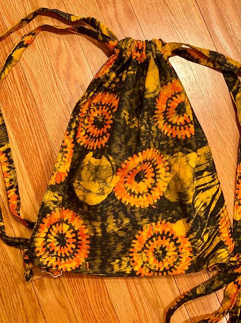 Batik Cinch Backpack Bag