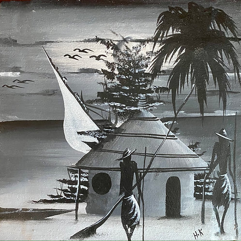 Beach Hut and Dhow