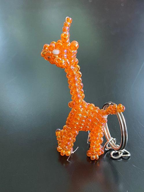 Beaded Giraffe Keychain
