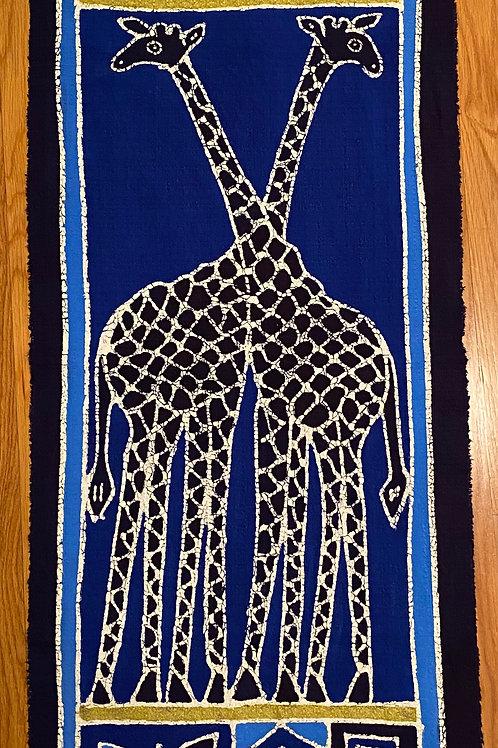 Blue Giraffe Wall Hanging