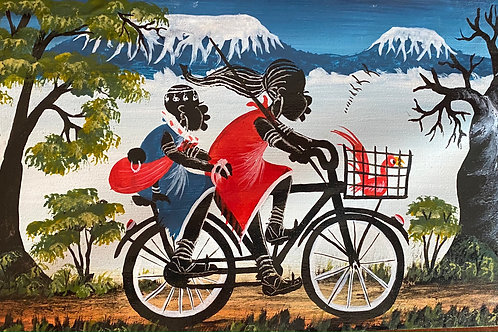 TingaTinga Maasai on Bike.