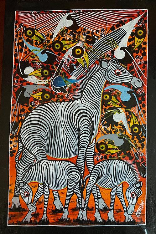 Zebra Tinga Tinga Painting