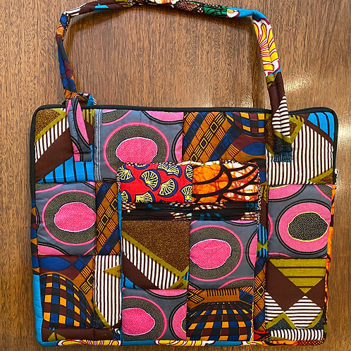 African Fabric Patch Laptop Case