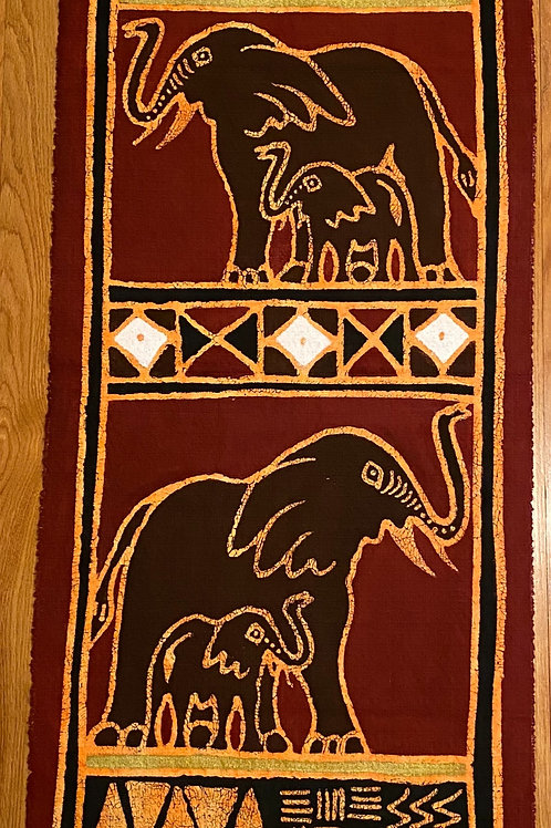 Elephant Wall Hanging (Table Runner)
