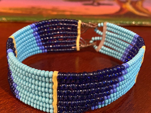 Beaded Maasai Cuff Bracelet