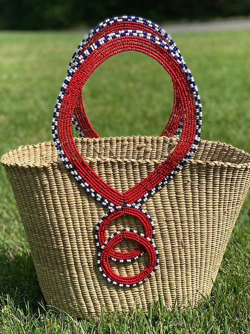 Maasai Bead and Basket Tote