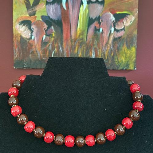 Kazuri Bead Wrap Bracelet or Choker