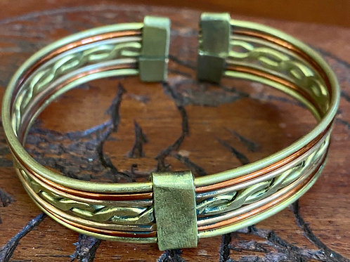 Copper and Brass Cuff