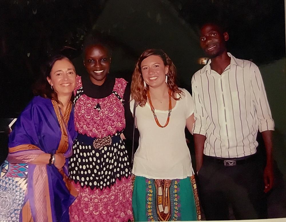 Terri, Zura, Benard, and I at the wedding