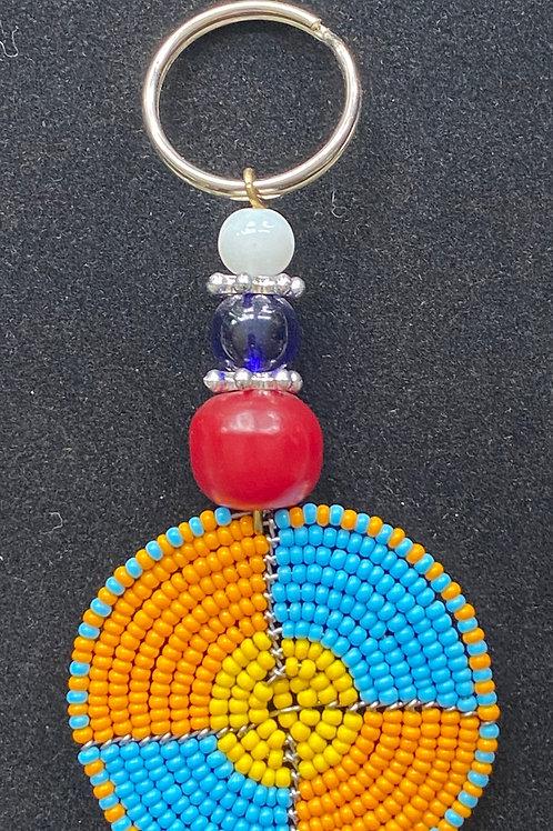 Maasai Bead Keychain