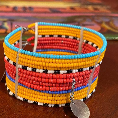 Maasai Beaded Cuff Bracelet