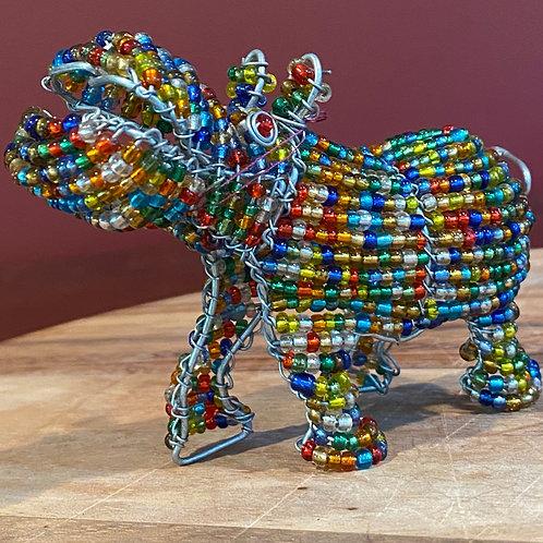 Beaded Multicolor Hippo
