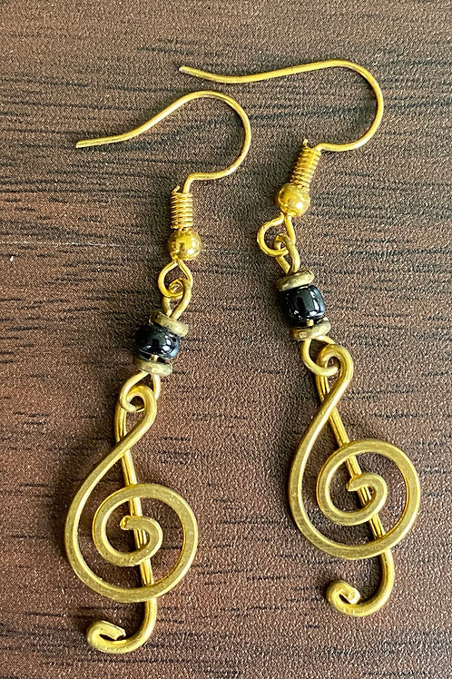 Brass Note earrings
