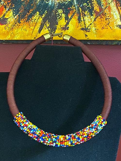 Beaded Maasai Short Necklace