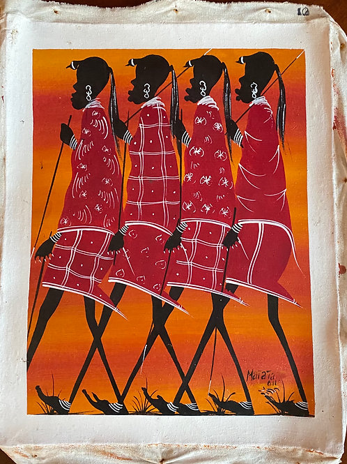 Walking Maasai Warriors