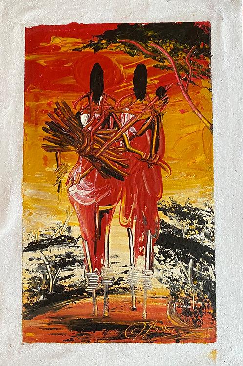 Maasai Carrying Firewood