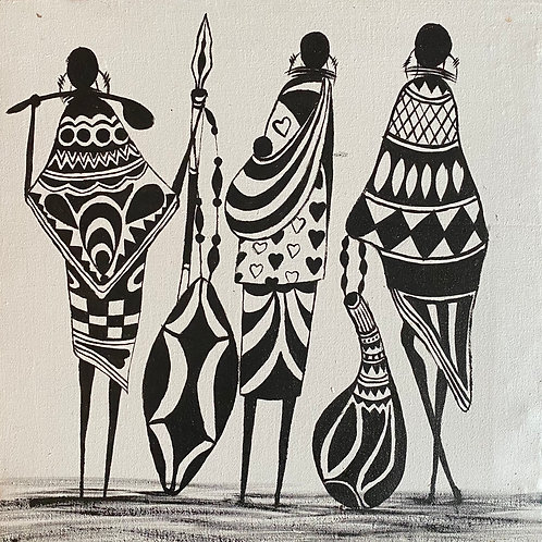 Black and White Maasai