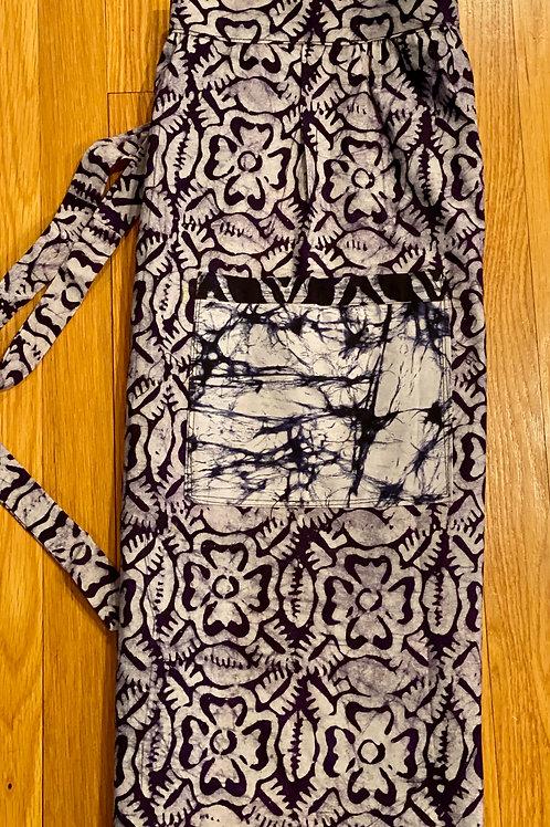 Short Hand Dyed Batik Apron