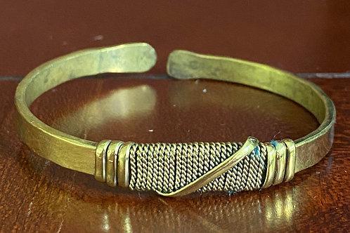 Twisted Brass Cuff - Flat