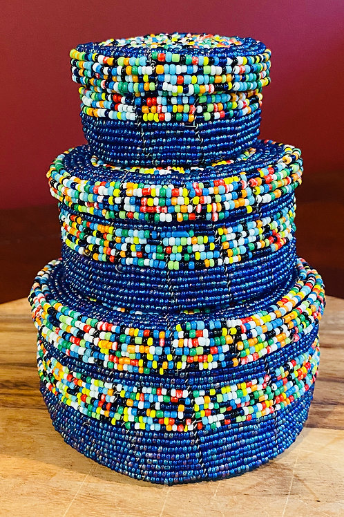 Stacking Beaded Jewelry Boxes