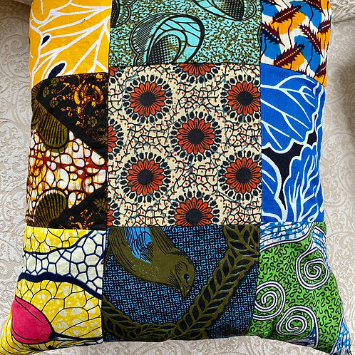 Reversible Patchwork Throw Pillow