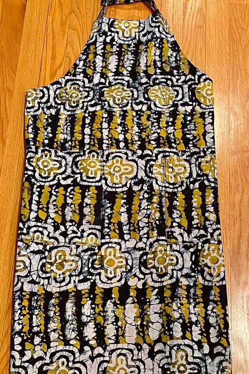 Hand Dyed Batik Apron