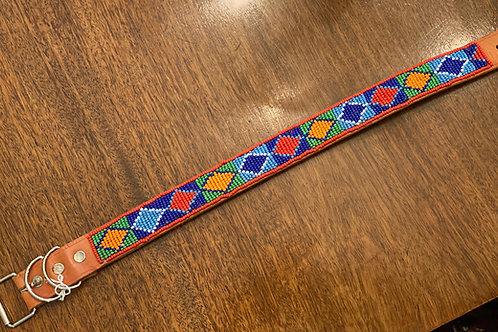 Maasai Beaded Dog Collar - Large