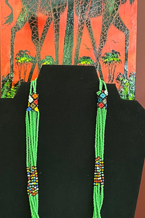 Bright Beaded Maasai Necklace