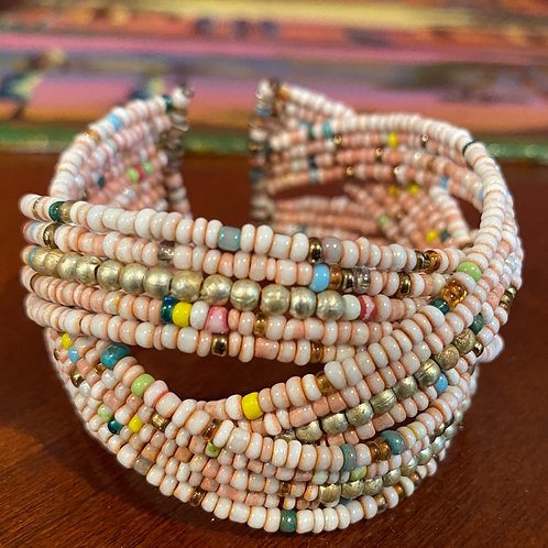 Braided Bead Cuff Bracelet