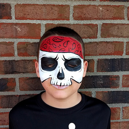 Face Paint Pirate Skull