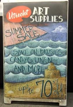 Utrecht Summer Sale Beach Chalkboard