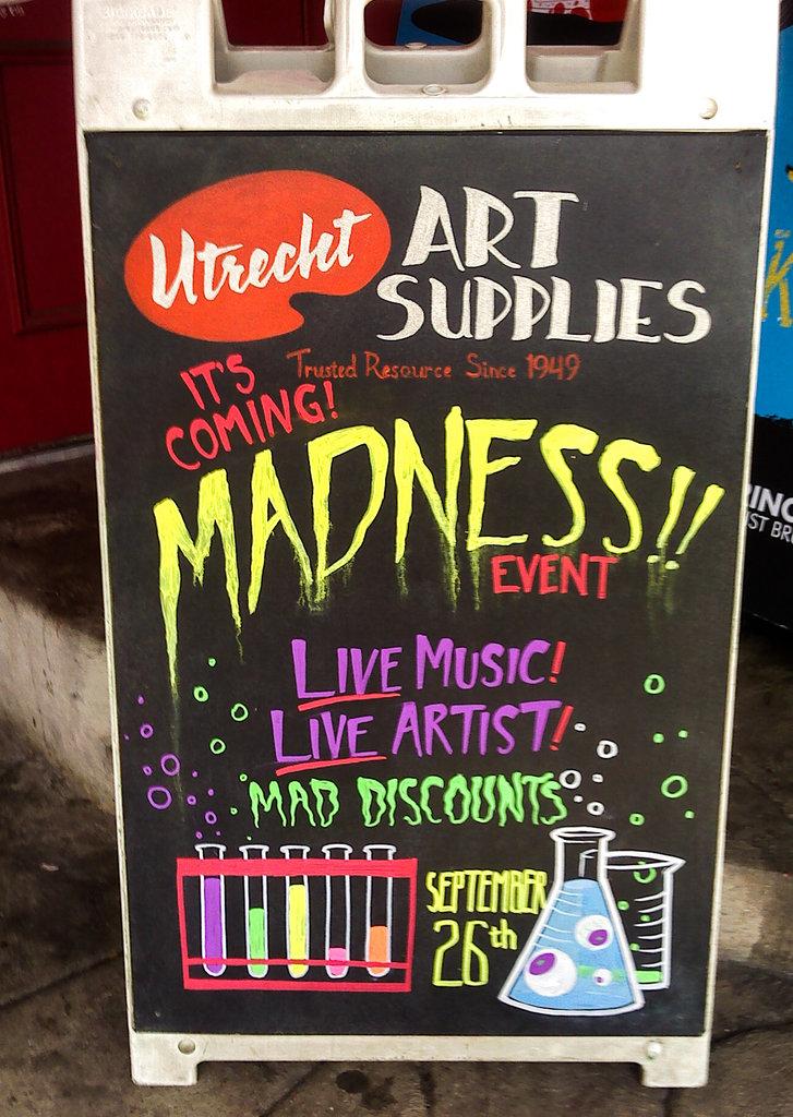 Utrecht Madness Chalkboard