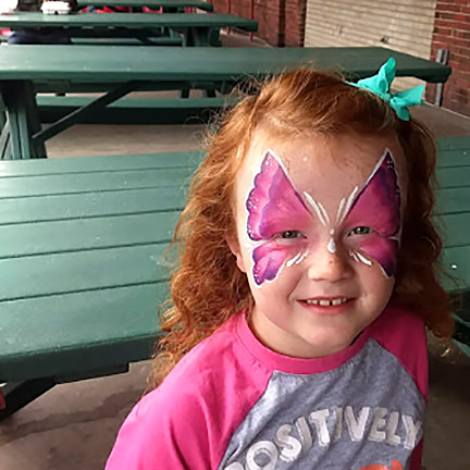 Face Paint Pink Butterfly