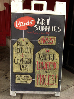 Utrecht Price Change Chalkboard