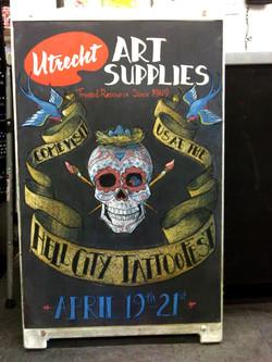 Hell City Tattoo Fest Chalkboard