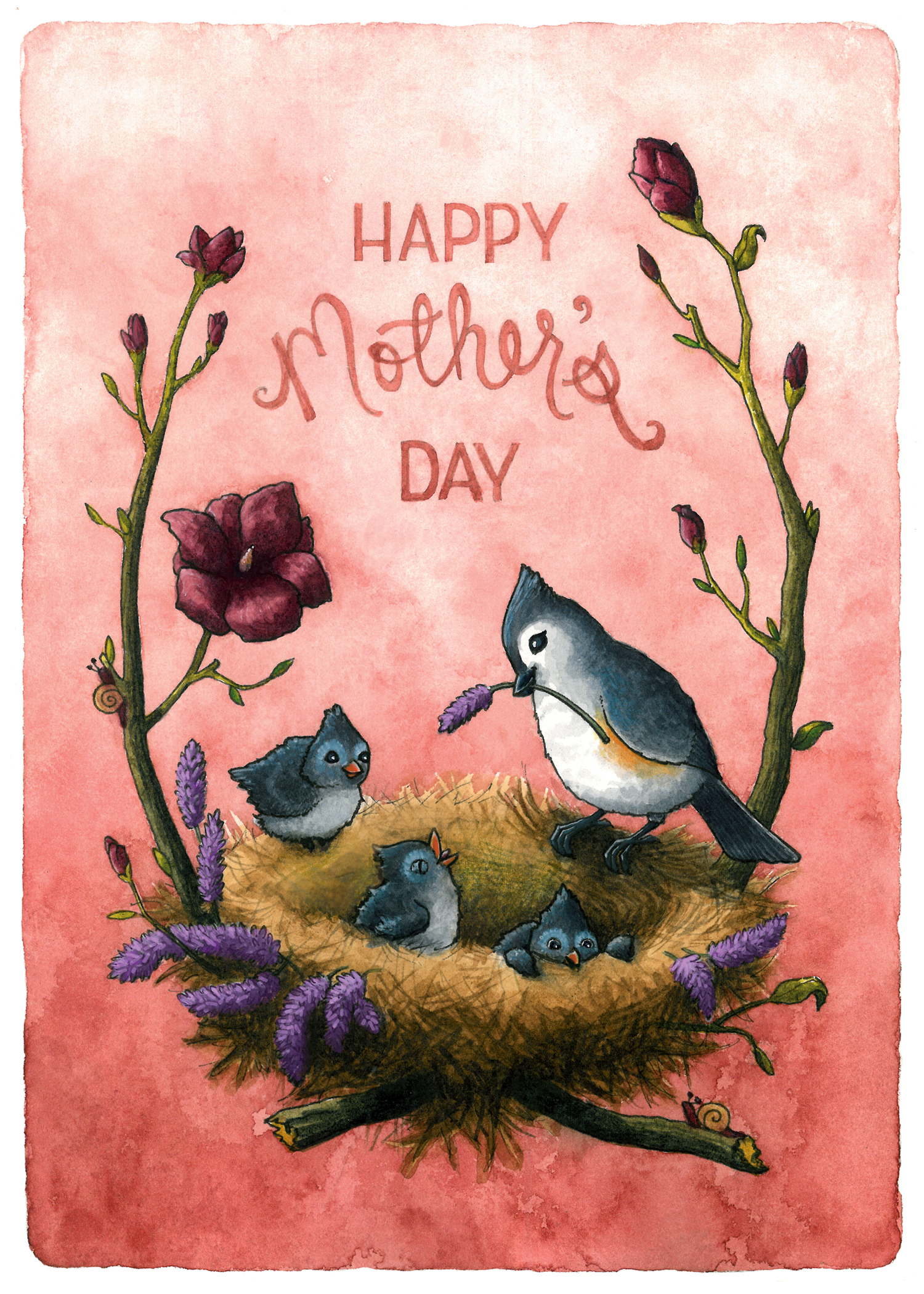 Mother's Day Tufted Titmouse
