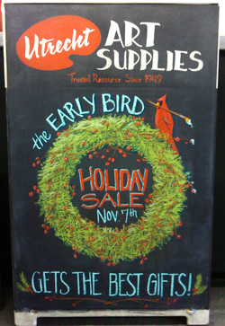 Utrecht Holiday Sale Chalkboard