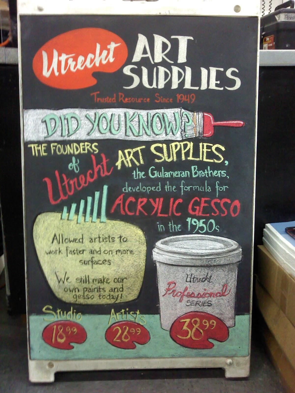 Utrecht Gesso Info Chalkboard
