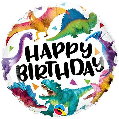 Dino Folienballon Happy Birthday