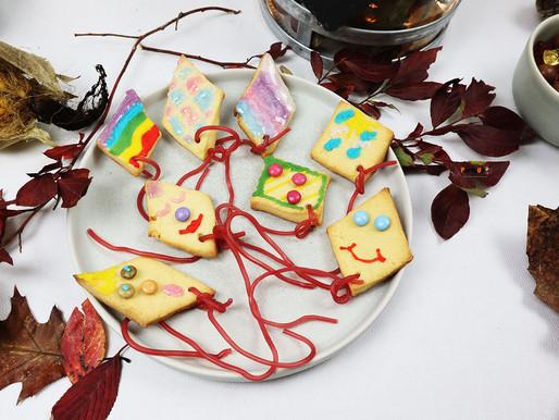 Drachenkekse Rezept zum backen mit Kindern im Herbst