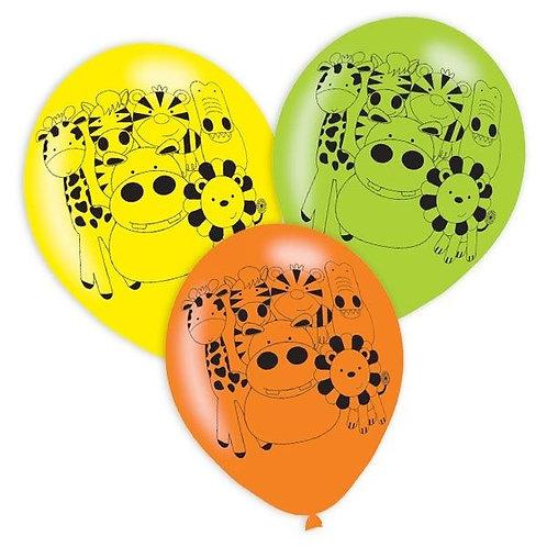 Luftballons Dschungeltiere