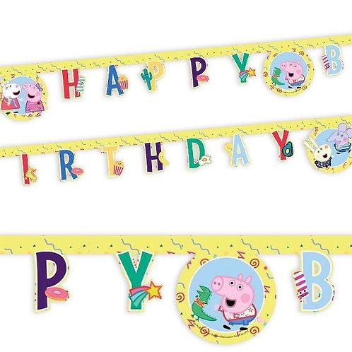 Happy Birthday Girlande Peppa Pig (Wutz)