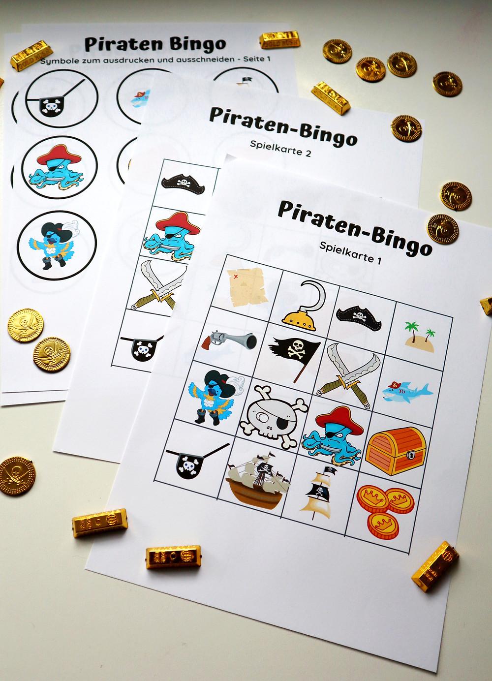Piraten Bingo, Spielidee für den Kindergeburtstag zum Thema Piraten (Piratenparty)