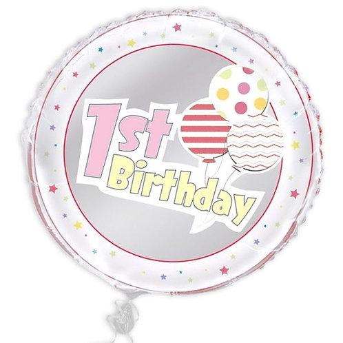 Folienballon 1. Geburtstag