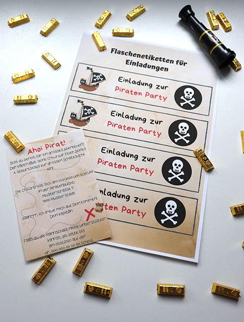 Einladung Piraten Kindergeburtstag