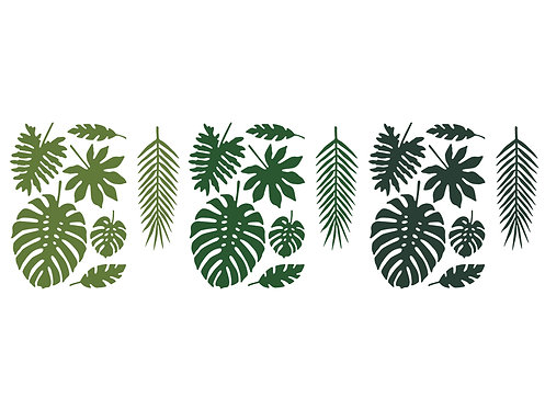 Tropische Blätter aus Papier