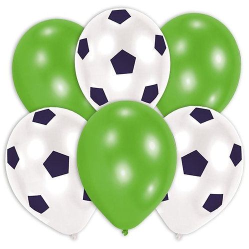 Luftballons Fussballmotiv 6 Stück