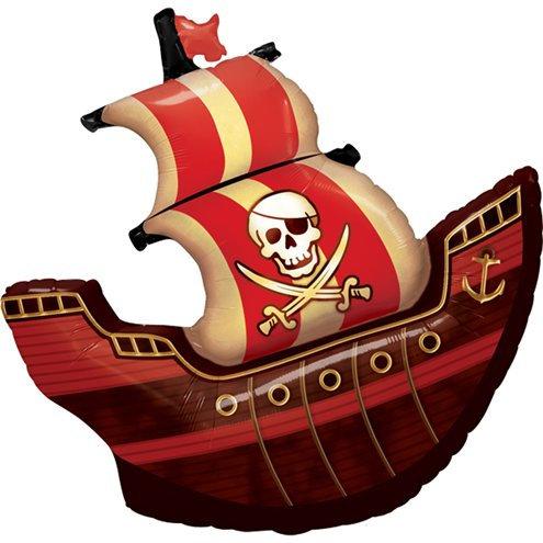 Folienballon Piratenschiff